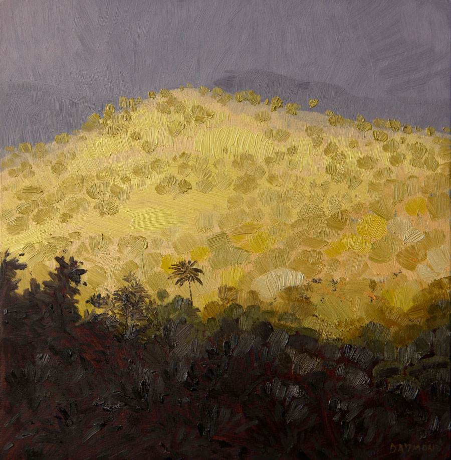 Karin Daymond, Looking East II, oil on board, 23 x 23cm
