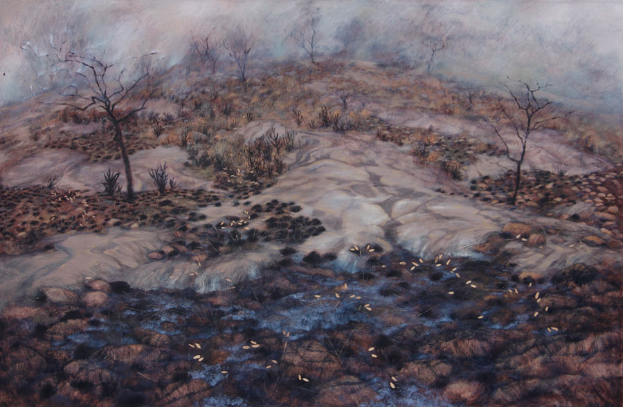 Karin Daymond, Marikana, oil on canvas, 120 x 185cm