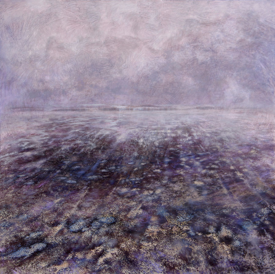 Karin Daymond, The Shore, oil and acrylic on canvas, 140 x 140cm