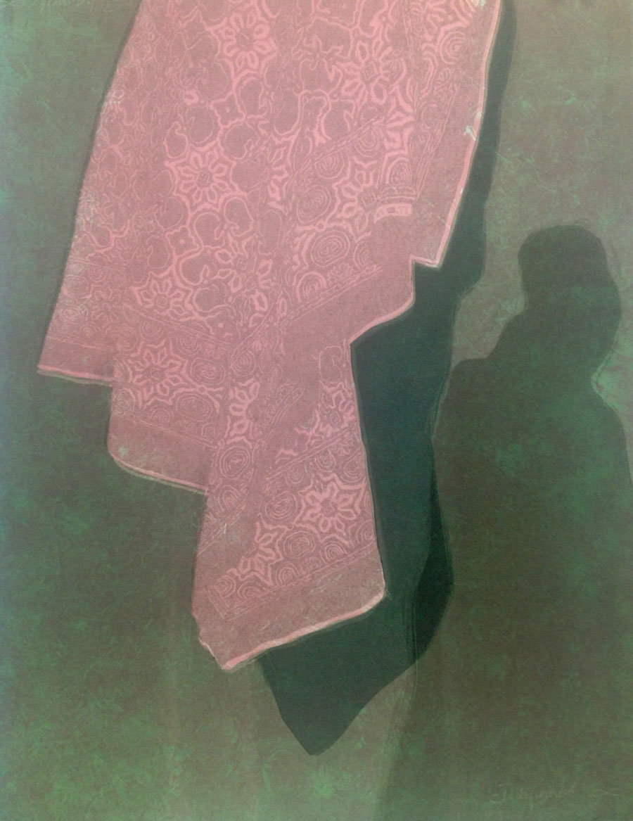 Karin Daymond, In the Shadows I, monotype, 50 x 65cm